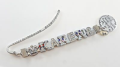 Personalized-Any name Silver Rhinestone Bookmark BE-Brave Happy Strong Free True