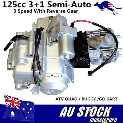 125cc 3+1 Semi Auto Engine Motor 3 Speed + Reverse Gear QUAD ATV BUGGY Go Kart