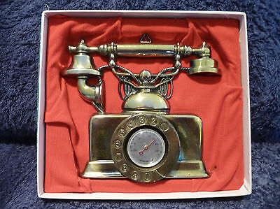 Vintage Thermometer - Wall Hanging - Telephone in original box