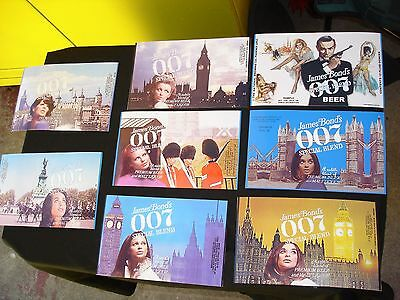 Replica -8 James Bond 007 beer can PAPER LABEL LOT photo paper for CAN