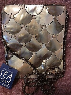 Sea Cove, Mother of Pearl, Evening/Formal/Bridal/Wedding Bag/Purse