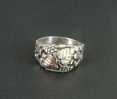 CCO Black Hills Silver Sterling 925 with Cut Out Design Ring Band Size 10