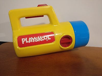Playskool Flashlight VTG 1988 Blue Cap Red Dial Change Red Green White