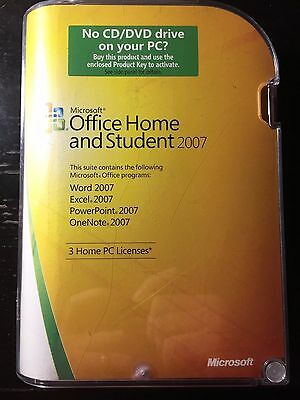 Microsoft Office Home and Student 2007 Retail Edition (3 installs)