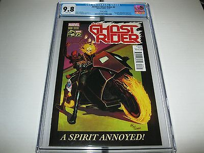 All New Ghost Rider #8  Deadpool Variant Cgc 9.8 Tough In High Grade  Nm + Rare