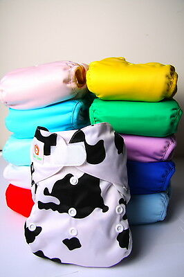 Modern Cloth Nappy Pack of 12 CLEARANCE SALE FREE POSTAGE