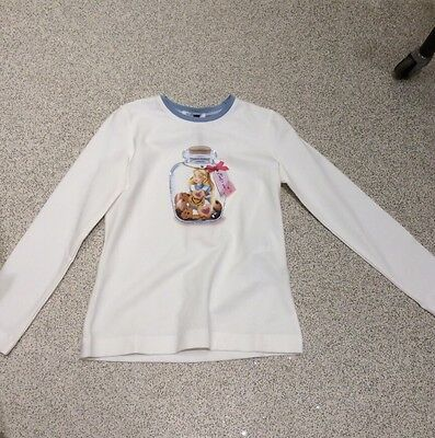 Monnalisa Alice In Wonderland Top, 10 Years, Brand New With Tag