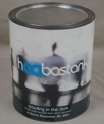 Hoobastank Crawling In The Dark Paint Can Promo With CD T-Shirt Beanie Sticker