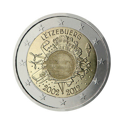 "Luxembourg 2 Euro commemorative coin 2012 ""10 - years of Euro"" - UNC"