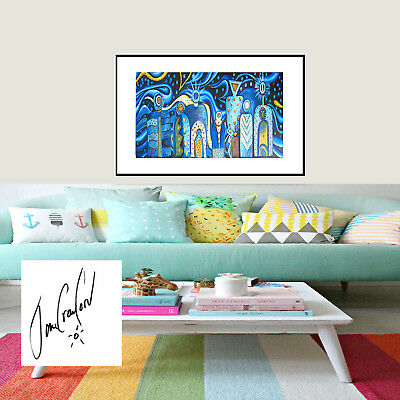 Aboriginal jane crawford Print Art Painting Mimi Gods  wall decor 70cm by 30cm