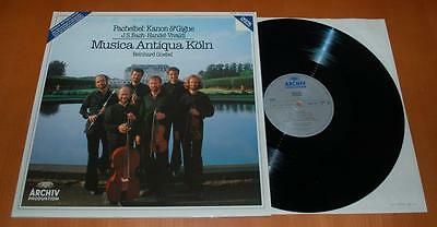 Pachelbel: Kanon & Gigue - Musica Antiqua Kohn - Goebel - 1983 German Archiv LP