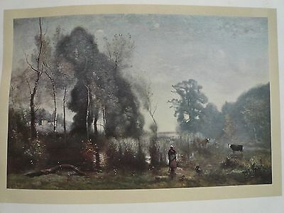 Genuine Antique Corot Limited Edition Printed in 1912 Very rare beautiful print3