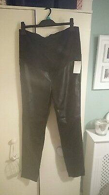 BNWT H&M over bump leather look maternity jeggings