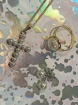 Childrens Silver Plated Kids Cross NECKLACE Christening Baptism With Gift Box