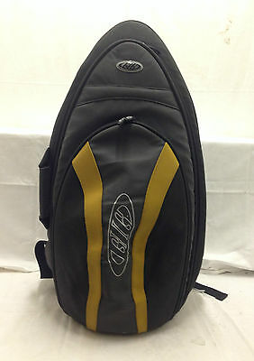 New Gig Padded Alto Saxophone Grey Black Yellow Carry Case Bag Instrument