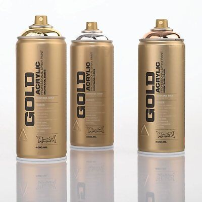 Acrylic professional spray paint Montana Gold Spray Paint  Gold Chrome