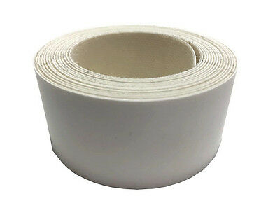 1 x Iron on edging 30mm x 2.5m meter roll of pre-glued white edging strip.(277)
