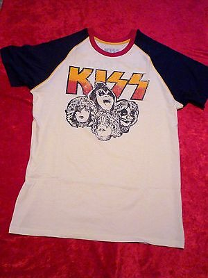 KISS Official 2016 Vintage Style (L) 2-Sided T-Shirt!! Brand New!
