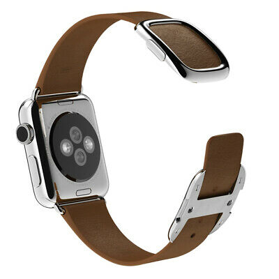 Genuine APPLE MJ542ZM/A 38mm Modern Buckle - Small - watch strap - brown