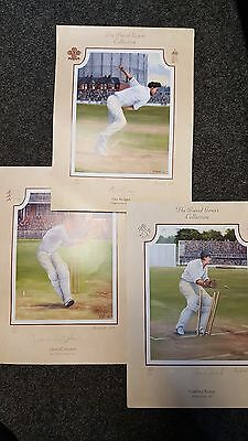 Signed England cricket player painting prints