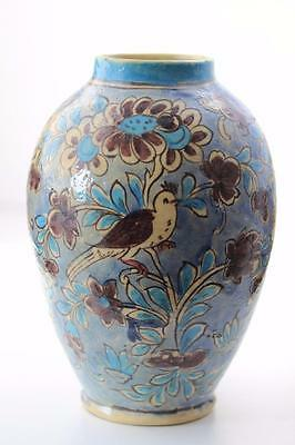 Art Pottery Stunning Hand Painted Large Vase Amazing  Detail MID 19th CENTURY