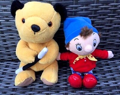 "SOOTY 13"" with Magic Wand & NODDY 11"" With Bell In Hat, Soft Plush Toys FREE P&P"