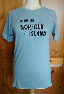 Vintage 1960s Norfolk Island T-Shirt - Size small - Never worn.