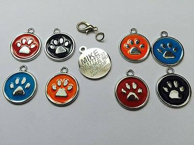 Personalised Premium Engraved Pet Tags DOG ID Custom Disc Disk Quality Puppy Cat