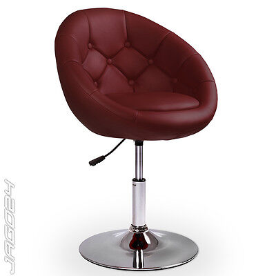 Chesterfield Lounge Sessel Club Cocktailsessel Drehstuhl Loungesessel Weinrot