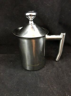 BlinkOne Milk Frother: Double Mesh Manual Operated Steamer And Foamer; Coffee