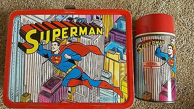 1967 Superman Metal Lunchbox and Thermos