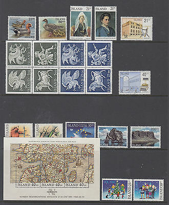 Iceland Complete Year 1990 Mint Never Hinged