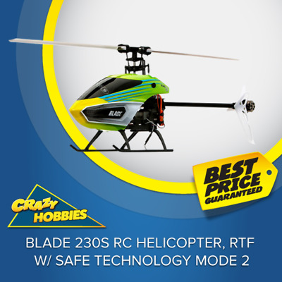 Blade 230S RC Helicopter, RTF w/ SAFE Technology Mode 2