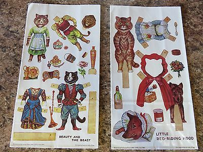 Unused Bag Fairy Tale Cut Out Cat Dolls Red Riding Hood Beauty & The Beast
