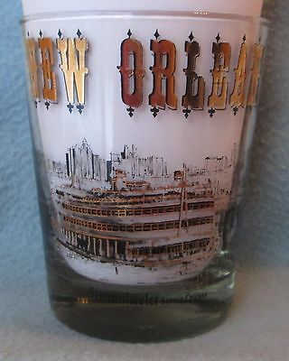 NEW ORLEANS ATTRACTIONS GLASS, Louisiana, Vintage