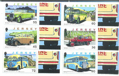 Jersey-Vintage Buses and Coaches mnh set