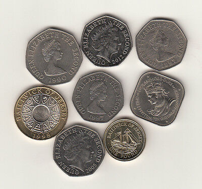 Jersey Guernsey coins £2 £1 & 50p multi-listing