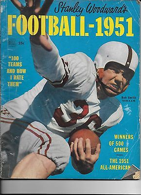 Stanley Woodward's Football - 1951 Complete Magazine Bob Smith Texas A.& M.