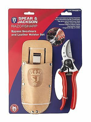 Spear & Jackson Kew Gardens Bypass Secateurs and Leather Holster