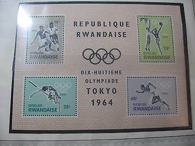 Timbre Rwanda Neuf** Bloc 1964 Jeux Olympiques