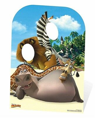 Madagascar Child Size Cardboard Cutout Stand In great for party photos