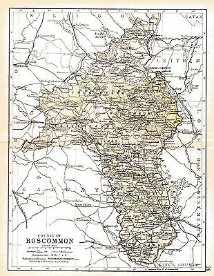 Three antique maps of County Roscommon and Ireland and a Connaught fact sheet.