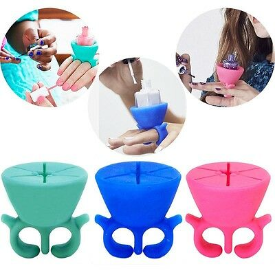 Nail Art Polish Silicone Holder Finger Stand x 1
