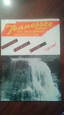 Tennessee Tourist And Develoment Association Guide 1962-63 Excellent Condition