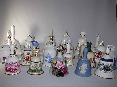 Lot of 23 Danbury Mint Porcelain Bells From Finest Companies in World