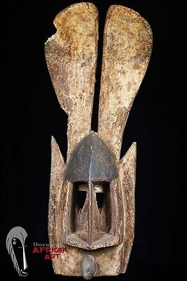 Discover African Art Dogon Mask (Walu, Gomintogo…?) on Custom Stand