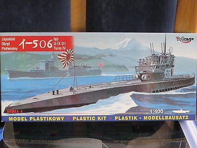 """maquette 1/400 Sous-marin """" 1-506  """" marque mirage hobby"""