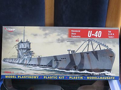 """maquette 1/400 Sous-marin """" U-40  """" marque mirage hobby"""
