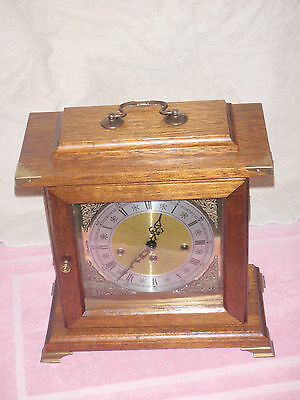 Franz Hermle Mahogany Case Westminster Chime Mantel Clock Outstanding!