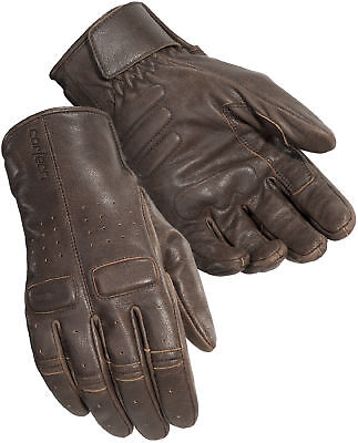 Cortech Mens Café Brown Heckler Leather Motorcycle Gloves